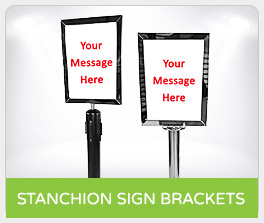 Shop Stanchion Sign Brackets
